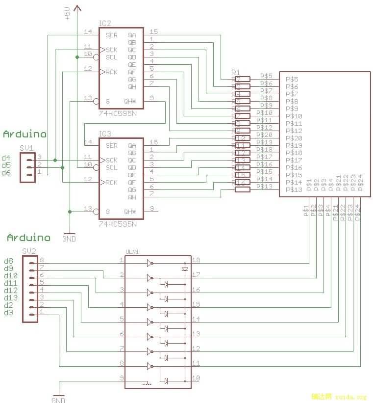 微信:hy928-net 概述: 74HC595 是一款漏极开路输出的CMOS 移位寄存器,输出端口为可控的三态输出 端,亦能串行输出控制下一级级联芯片。 特点:  高速移位时钟频率Fmax>25MHz  标准串行(SPI)接口  CMOS 串行输出,可用于多个设备的级联  低功耗:TA =25时,Icc=4A(MAX) 引脚功能表: 管脚编号 管脚名 管脚定义功能 1、2、3、4、5、6、7、15 QAQH 三态输